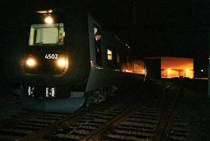 Nya tågen. De tåg som är hyrda kommer från Skånetrafiken och ser helt annorlund till utseendet, än de som används idag.