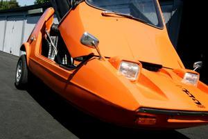 Bond Bug: Trehjulingen Bond Bug var väldigt obalanserad och välte lätt.
