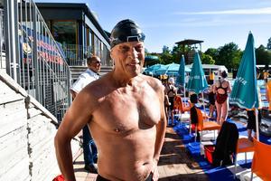 Rolf Tegeback efter sitt heat.