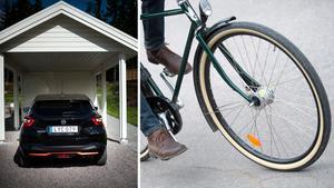 Att ta cykeln i stället för bilen är att ta ansvar, menar Jacke H. Bilder: Pontus Lundahl/TT / Fredrik Sandberg/TT