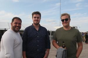 En försväntansfull trio som lyssnat en hel del på Toto genom åren. Vahid Bajra, Stockholm sammanstrålade med kompisarna Henrik Näsman och Rasmus Burvall som åkt från Sundsvall till Gävle.