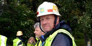 Sedan 1980 har Stefan Wengelin arbetat som deltidsbrandman i Säter.