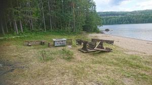 Badplatsen i Kovland vandaliserades. Bild: Privat