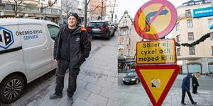 Jonny Riberg tycker att kommen ska släppa på trafiken åt båda hållen på Storgatan.