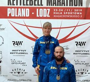 Ellinor Sjöström och Henric Lennmark-Appelbom från Falun vann sina klasser. Foto: Del Wilson