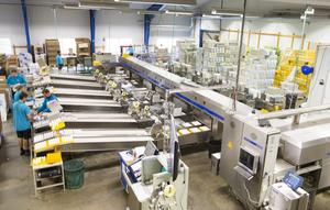 Packeriverksamheten är i gång måndag till fredag året om. I dag är en stor del av packeriverksamheten helt automatiserad.