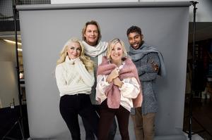 Wiktoria Johansson, Tommy Nilsson, Elisa Lindström och John Lundvik är den nya kvartetten i Christmas Night. Bild: Rickard L Eriksson.