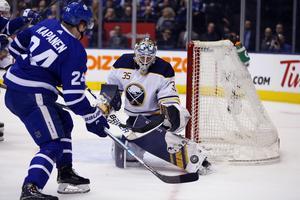 Det blev 37 matcher från start för Linus Ullmark under sin första hela NHL-säsong.