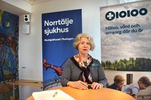 Susanne Bergenbrant Glas är chefsläkare på Norrtälje Sjukhus.