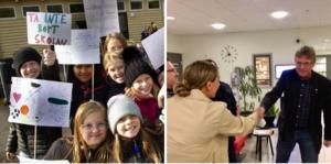Eleverna på skolorna har strejkat, och demonstrerat med plakat, och skrivit brev till politikerna. En grupp föräldrar träffade även politikerna och fick ett löfte om inbjudan i lärandenämnden, som inte blivit av än, skriver insändaren.