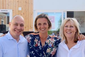 Bra design drar besökare, konstaterade Jonas Ihreborn, Maria Berglund och Karin Lundh vid Visionspalatset.