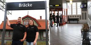 Mattias och Angelica Jensén rustar upp Bräcke stationshus för att ge byn ett lyft. – Vi älskar Bräcke, säger Angelica Jensén.