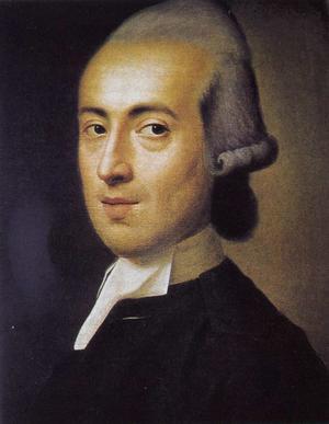 Johann Gottfried Herder  31 år gammal 1775. Målning av Johann Ludwig Strecker.