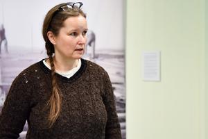 Anneli Larsson är Kulturarvssekreterare i Mora och den som ligger bakom höstens utställning som går under namnet Timmerhuskulturen i Övre Dalarna. Föreläsningen med Martina var den sista programpunkten men utställningen pågår fram till 23 november.