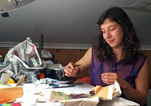 Felicia Ekblom hoppas på att kunna etablera sig som konstnär i Västerås i framtiden.