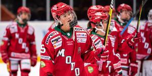 Ronja Mogren och hennes lagkompisar noterades för tolfte raka förlusten i och med att AIK vann. Bild: Erik Mårtensson/Bildbyrån