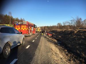Olyckan inträffade 300 meter öster om avfarten till Hallstaberget i Sollefteå.