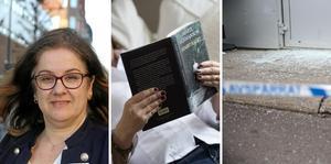 Jacqueline Tjällman (L), till vänster i bild, och Cecilia Elving (L) varnar för att bristande läskunnighet bäddar för kriminalitet.