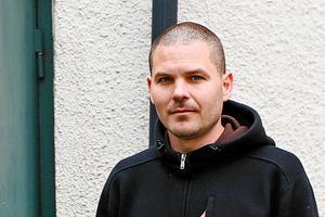 Mark Andersson, en av konstnärerna som tillhör konstnärskollektivet Bunkern.