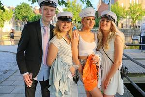 Adam Hugosson, Malin Jansson, Miranda Stenmark och Felicia Worström från Drottning Blankas gymnasieskola.
