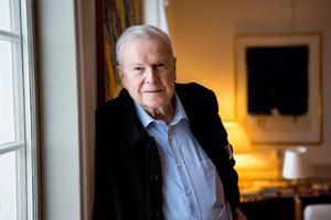 Författaren och akademiledamoten Kjell Espmark fyller 85 år i februari.  Foto: Christine Olsson / TT