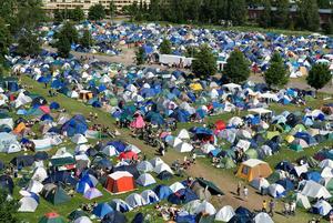 2007. Festivalens camping.