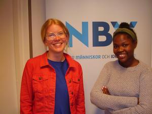 Föreläsarna Maria Petersson till vänster och Jane-Ange Musekura till höger. Foto: Stellan Bäcklund