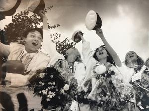Johan Erling, Sonja Collin, Anne-Marie Roppanen och Maria Persson sjunger ut 1991. Foto: Tony Persson/VLT:s arkiv