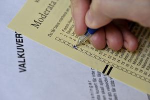 18271 av väljarna valde att sätta ett kryss på valsedeln när de röstade i valet till Södertäljes kommunfullmäktige.