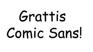 Vad tycker du om Comic Sans?