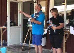 Segrare i Golf Tour Siljan 2018 blev Marie Knutsen och Sven- Olof Mörk, Mora GK. Foto Mora GK