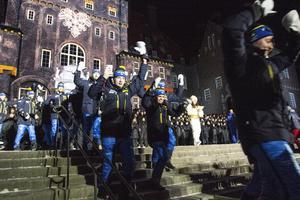 Störst jubel fick det svenska landslaget.