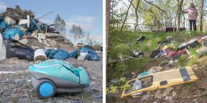 Dumpat avfall kan vara farligt för naturen.