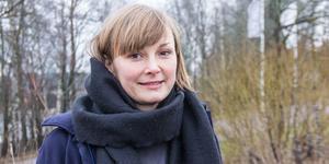 Erika Bengtsson, vänsterpartist och ledamot i kommunfullmäktige.
