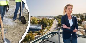 Boel Godner om var kommunen vill placera ett minnesmonument. Foto: Simon Rehnström/TT