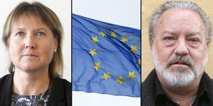 De är oeniga och mycket när det kommer till den lokala politiken. Men i regionens påverkansarbete mot EU håller Elise Ryder-Wikén (M) och Robert Uitto (S) en enad front.