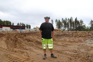 Schaktarbeten har påbörjats på Tallen-området inför Dollarstores etablering i Falun.