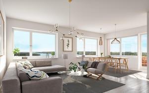 Så här kommer de mindre lägenheterna i Havstornet att se ut.