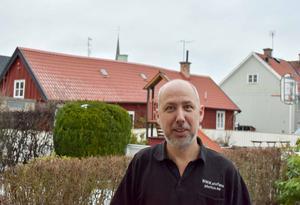 Stefan Pettersson, Arboga, tog en häftig actionbild i Svenska rallyt.