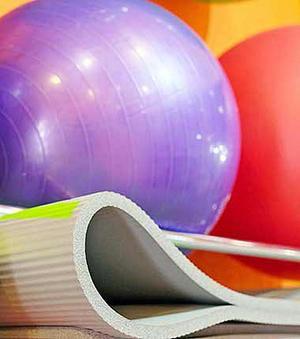 Ftalater kan exempelvis finnas i gymbollar och träningsmattor.Bild: Kemikalieinspektionen