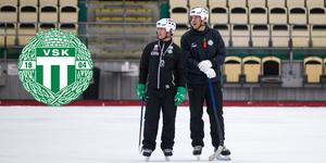 Assisterande tränare Johan Garnebro och huvudtränare Michael Carlsson.