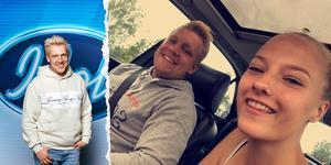 Gottfrid Krantz och flickvännen Denise Hägglund från Timrå tillbringar helgen i Stockholm tillsammans efter fredagsfinalen, som varade nästan hela natten med TV:s eftersändningar och annat efterarbete.  Foto: TV4/Privat