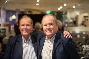 Tvillingarna Bertil och Thomas Eriksson har drygt 90 år tillsammans på Scania.