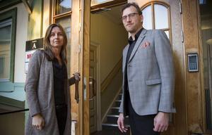 Projektledare Ann-Sofie Däldehög, Fiber Optic Valley, och Martin Askne, Propell Innovation, vill att alla som söker stöd i sitt företagande bemöts på lika villkor.