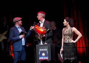 Peter Skyttner fick svara på Per Johanssons frågor på scenen.