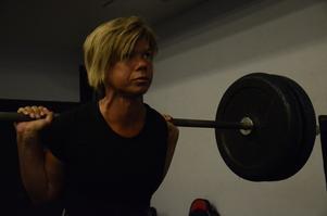 Inte knäsvag. Ulrika Johanssons personbästa i knäböj är 190 kilo.