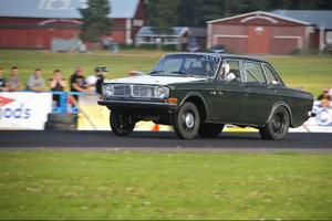 Martin Häggström i sin Volov 144 Turbo vann priset för Jämtands snabbaste gatbil.