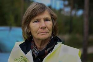 Missing peoples Birgitta Jonsson åkte upp från Falun för att delta i söket.