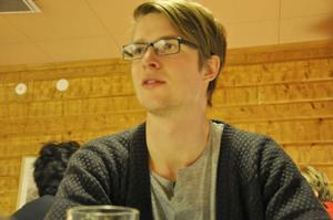Tobias Nylander är tillsammans med elva andra deltagare på träningsläger inför Vasaloppet.