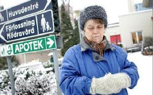 -- Jag söker inte vård för att det är roligt, utan för att jag är sjuk, säger Elja Sjöberg.Hon fick ingen hjälp när hon fick ont i bröstet.FOTO: ANNIKA BJÖRNDOTTER